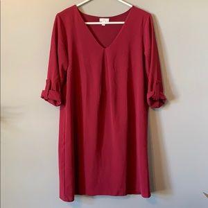 Charming Charlie maroon dress